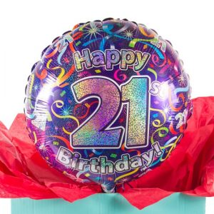 21st Birthday Balloon 1499 Free Delivery