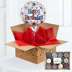 Happy Birthday Balloon With Chocolates 1799 FREE Delivery UK Wide